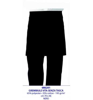 GREMBIULI A VITA  SENZA TASCA cm 70x46